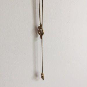 ✨ madewell knotshine necklace